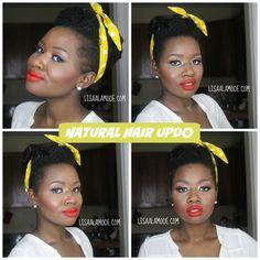 Natural Hair Updo on Tapered Haircut #natural hair. Short Natural Hair #twa #Taperedcut