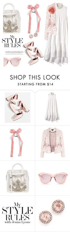 """""""Saccharine style"""" by pensivepeacock ❤ liked on Polyvore featuring Topshop, 3.1 Phillip Lim, Cara, Alexander McQueen, Karen Walker, Dana Rebecca Designs and Chanel"""