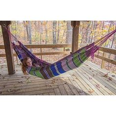 Choose the Handmade Portable Double Camping Hammock if youre looking for the safest, most comfortable hammock sleeping experience ever. Garden Hammock, Camping Hammock, Furniture Ideas, Outdoor Furniture, Outdoor Decor, Garden Supplies, Outdoor Living, Tropical, Sleep