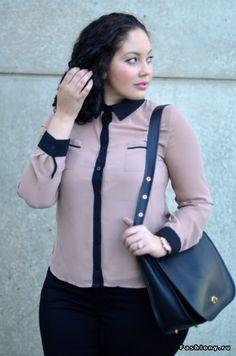 Новые образы Tanesha Awasthi - блоггера 'Plus-size' / фото девушек в полный рост в обтягивающих джинсах
