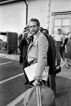 Paul Newman arriving in DC for the 1963 March on Washington