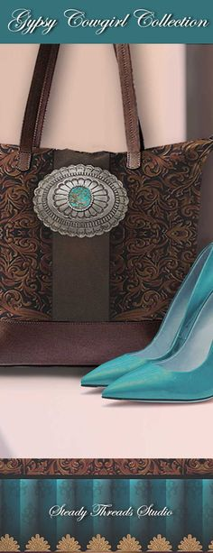 Top Accessory of the Year!  Shop this ultimate statement handbag. Custom designed and western inspired artwork from the Gypsy Cowgirl Collection. Large designer handbag perfect for work week, travel, and overnight. #designerhandbag #bridesmaidgifts #shoulderbag #travelbags #canvasbag #largehandbags