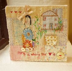 Original mixed media Artwork ... Home is where the by hensteeth, £65.00