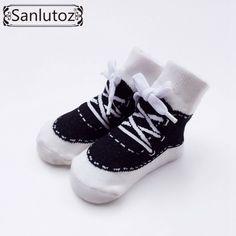 Sanlutoz Baby Socks New Born Sport Style Sneaker Socks for Infant Boys Girls Christmas Holiday Birthday Gift 0-12 Months