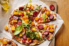 Roast pumpkin and chorizo pizza - This quick and tasty chorizo pizza is perfect for a Friday night in.