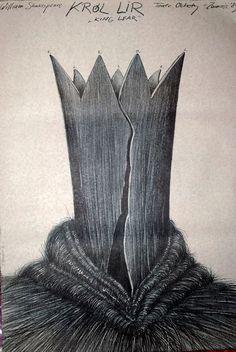 King Lear Original Theater Ochoty Poster by Andrej Pagowski 1983