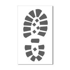 Hiking Boot Print Rectangle Sticker