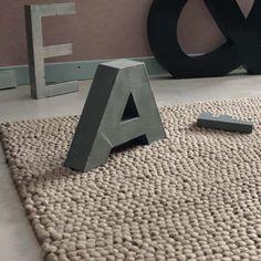 Beige wollen INDUSTRY tapijt 160 x 230 cm