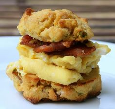 Paleo Pumpkin, Apple, Bacon and Chive Biscuits.