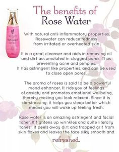 Awesome facts regarding rose water. Be sure to check out my website and order yours today! Don't forget about the free headband when you order Refreshed. Only good until the end of June.