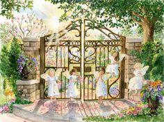 """""""Angels at the Gate"""" by Constance Meloche - Artist (www.constancemeloche.com)"""