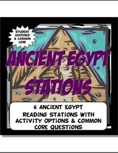 This content rich, Common Core activity is student centered and visual.The activity has 6 stations detailing the geography, achievements, social classes, leadership, economy and religion of Ancient Egypt. Readings come with pictures, charts and maps. Questions and informational activities are underneath the reading AND on a separate worksheet for teacher choice.