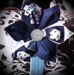 UNC Carolina Tar Heels floral headband your by ModernMatronCrafts, $4.50