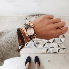 - Aimee Song's stacking game is on point, with a mix of styles by Cartier, Eyland, and Citizen.