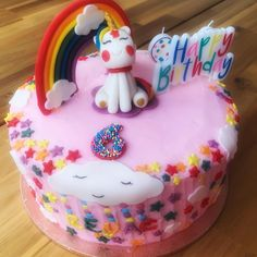 Rainbow themed cake#Vanilla cake Themed Cakes, Vanilla Cake, Birthday Cake, Rainbow, Desserts, Food, Theme Cakes, Rain Bow, Tailgate Desserts