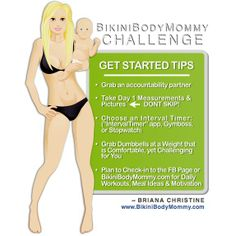 BIKINI BODY MOMMY CHALLENGE GET STARTED TIPS - DOING THIS CHALLENGE NOW!