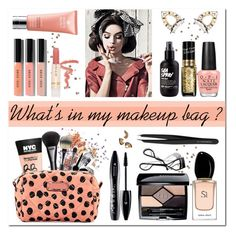 """""""What's in my makeup bag ?"""" by vampirella24 ❤ liked on Polyvore featuring beauty, Bobbi Brown Cosmetics, Maybelline, Gucci, MAC Cosmetics, Marc by Marc Jacobs, Paul & Joe Beaute, L'Oréal Paris, OPI and Erickson Beamon"""