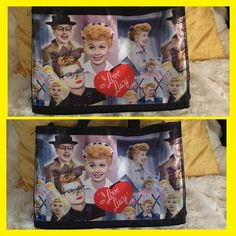 """I Love Lucy Small Vintage Purse ‼️ PF UNLESS BUNDLED ‼️ Brand:  I Love Lucy Color(s): multiple  Condition: vintage / fair Measurements:     •. Height 7""""    •. Width 11""""    •  depth 4"""" - strap 4"""" Fabric:  synthetic  Care: spot wipe clean Special features: Lucille Ball Collectors, vintage.  • Next day delivery to USPS. • Many versatile items available, feel free to check out my closet! Lucille Ball Bags Mini Bags"""