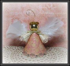 Handmade Angel Ornaments   Handmade Christmas angel ornament.