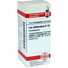 LAC DEFLORATUM D 12 Globuli:   Packungsinhalt: 10 g Globuli PZN: 07171727 Hersteller: DHU-Arzneimittel GmbH & Co. KG Preis: 5,50 EUR…