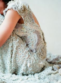 gorgeous ice blue dress with such detail & beading