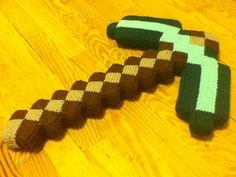 Ravelry: Minecraft pickaxe pattern by Tommy Smith