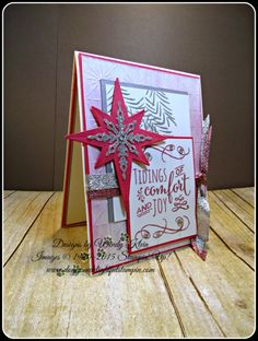 Tidings of Comfort & Joy by kleinsong - Cards and Paper Crafts at Splitcoaststampers Christmas 2016, Christmas Cards, Inka Gold, Glitter Ribbon, Comfort And Joy, Gold Paint, Homemade Cards, Stampin Up, Paper Crafts