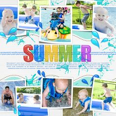 Scrapsimple Tools - Digital Scrapbooking Styles: Splashed-summer 13001 Biggie