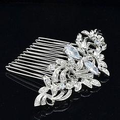 DD 8.5cm Nobby Hair Comb Tiara Headpieces Wedding Bridal Jewelry for Party: Amazon.co.uk: Jewellery