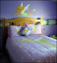 Tinkerbell Bedroom in 15 Dreamy Designs - Rilane Magical Bedroom, Fairy Bedroom, Girls Bedroom, Disney Themed Bedrooms, Bedroom Themes, Bedroom Decor, Bedroom Ideas, Nursery Decor, Tinker Bell Room