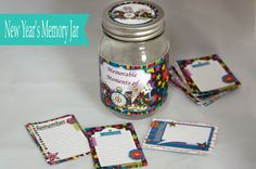 New Year's printable memory jar project