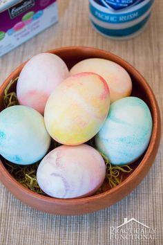 How to make Shaving cream dyed Easter eggs