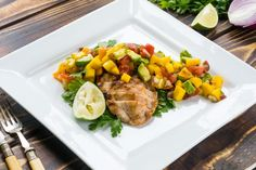 Easy to Eat Clean Grilled Chicken with Fresh Mango Salsa | Clean Food Crush