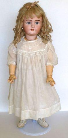 34  Antique Walkure Kestner Kley Hahn Doll Germany with Earrings Unique