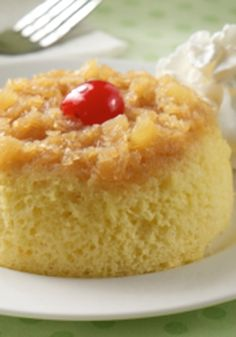 Pineapple Upside Down Mug Cakes is a simple, delicious and refreshing dessert recipe that can be made in just 10 minutes!