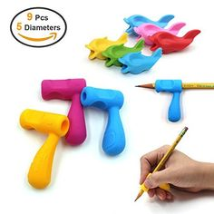 Pencil Grips,Firesara Silicone Ergonomic Writing Claw Aid Dolphin and Handle Style Pencils Training Grip Holder for Kids Students Kindergarten Adults Right Handed the Aged Disabled Hands Learn Handwriting, Handwriting Activities, Improve Your Handwriting, Kindergarten, School Ot, Pencil Grip, Adaptive Equipment, Gross Motor Skills, Kids Writing