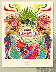 A VECTOR TRIBUTE TO MY HISPANIC HERITAGE by Orlando Arocena on the Behance Network