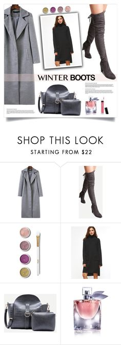 """So Cozy: Winter Boots"" by mahafromkailash ❤ liked on Polyvore featuring Terre Mère, Bare Escentuals and winterboots"