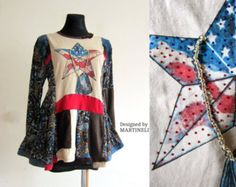 M popart artprint colorful recycled top tunic dress by jamfashion