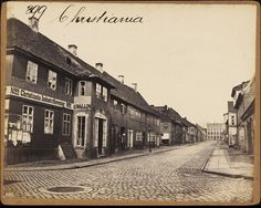 Old Oslo street, Norway. Photo taken Old Pictures, Old Photos, Norway Oslo, Beautiful Norway, Scenic Design, Street Photo, One Pic, Picture Photo, Vintage Posters