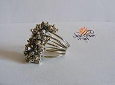 Sublime Metier: Inel Metalic Metal, Rings, Handmade, Jewelry, Hand Made, Jewlery, Bijoux, Schmuck, Craft