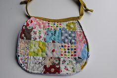 quilted patchwork bib by quarter inch mark/Chase