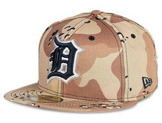 Detroit Tigers 6 Day Camo 59Fifty Fitted Baseball Cap by New Era x MLB