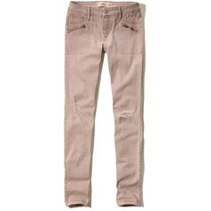 Hollister Low Rise Super Skinny Twill Pants ($30) ❤ liked on Polyvore featuring pants, pink, skinny leg pants, skinny twill pants, pink trousers, twill trousers and skinny trousers