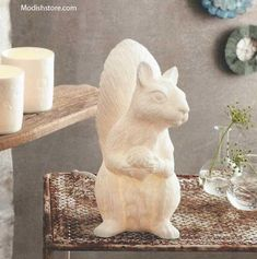 $120.00  Roost Squirrel Lamp