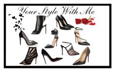 Black heels! by christina-geo on Polyvore featuring Tom Ford, Christian Louboutin, Marion Parke and Alexander McQueen