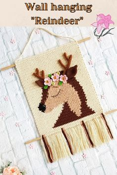 Crochet Wall Art, Crochet Deer, Giraffe Crochet, Crochet Wall Hangings, Crochet Home, Crochet Crafts, Crochet Baby, Crochet Projects, Crochet Dolls Free Patterns