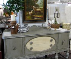 Painted Antique Buffet