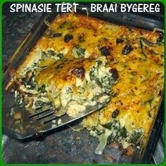 Food recipes from all over the world. South African Dishes, South African Recipes, Ethnic Recipes, Kos, Braai Recipes, Cooking Recipes, Spinach Recipes, Vegetable Recipes, Chicken Recipes