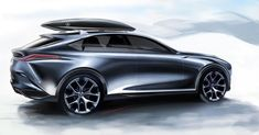 "(@cardesignworld) na Instagramie: ""Lexus LF-1 Limitless Concept official sketch by Ian Cartabiano @iancartabiano #cardesign #car…"""